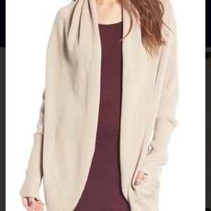 Leith circle cardigan. Size large. Beige/oatmeal